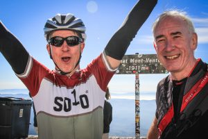 Happy faces on the summit of Mont Ventoux