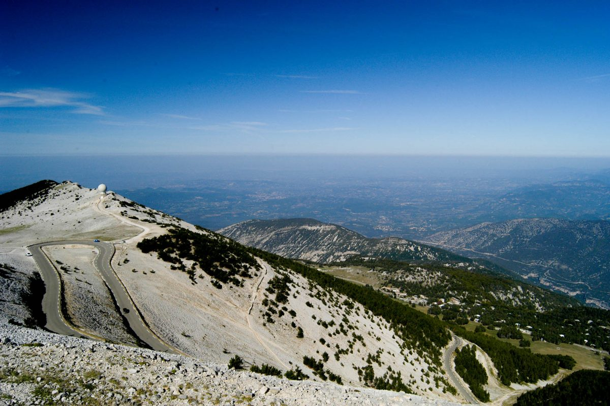 The view from the top of Mont Ventoux